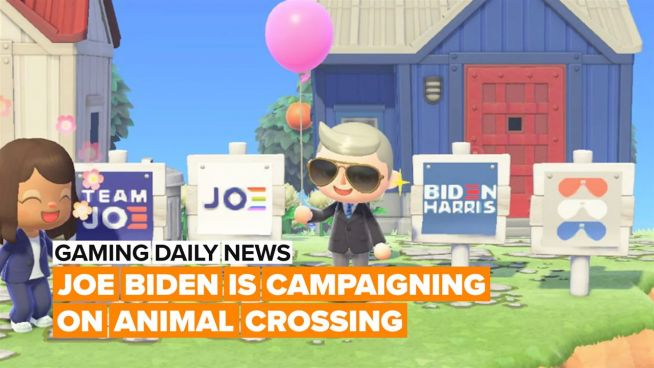 Would you decorate your Animal Crossing island with Joe Biden signs?