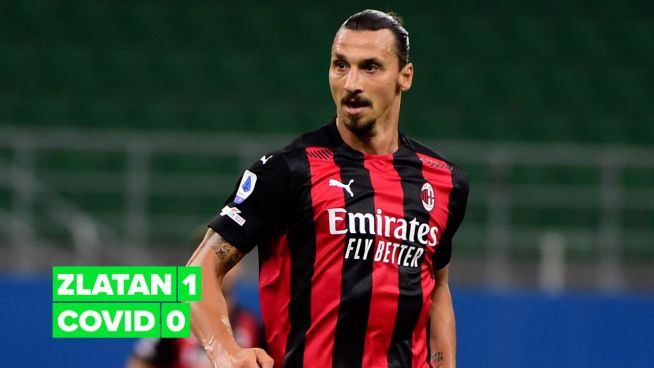 Zlatan Ibrahimović proves how he's beating Covid from home