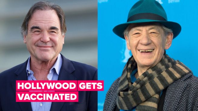 Sir Ian McKellen & Oliver Stone are first celebs to take Covid-19 vaccine