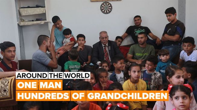 Around the World: Meet the man with 42 kids and over 300 grandchildren