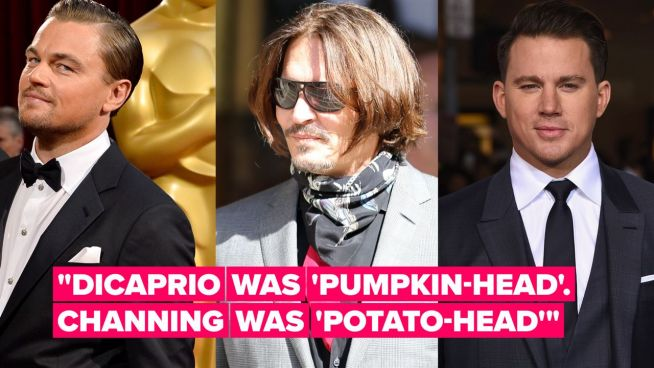 Johnny Depp's veggiehead nicknames for Leo DiCaprio & Channing Tatum are kind of hilarious