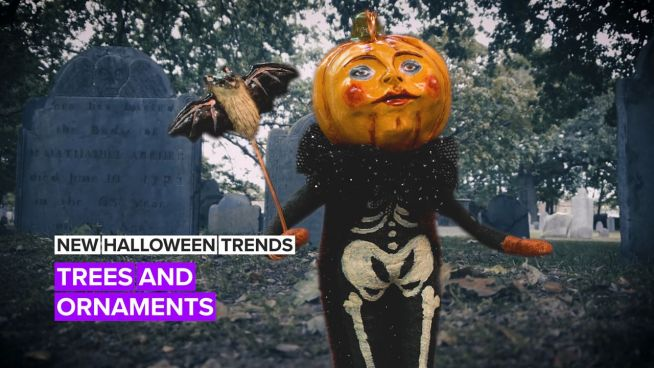 New Halloween Trends! Decorated trees and ornaments