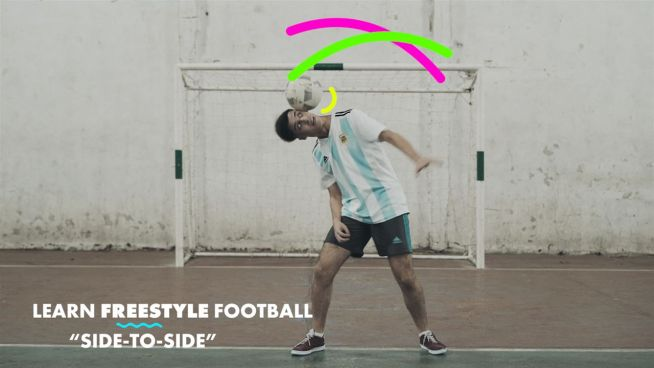 Learn Freestyle Footballer Tricks: The side to side