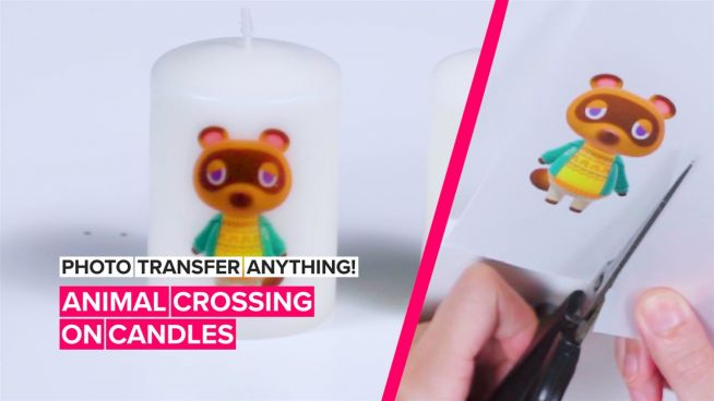 How to Photo Transfer Anything: Candles Tom Nook would approve of