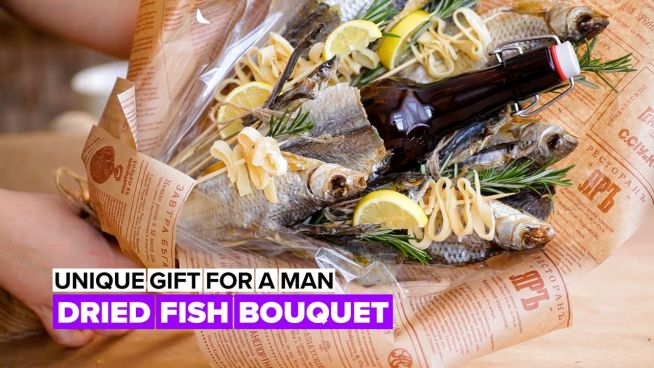 Edible bouquet: Fish & lemons