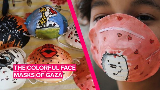 The artists inspiring people to wear face masks in Gaza