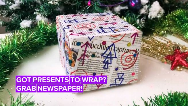 Help the planet and wrap your Christmas presents with newspaper