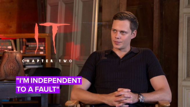 Bill Skarsgård doesn't like asking his famous family for acting advice