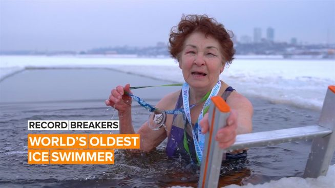 This 83-year-old ice swimmer is cooler than the water she swims in