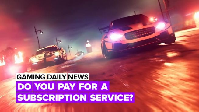 What percentage of gamers have subscription services?