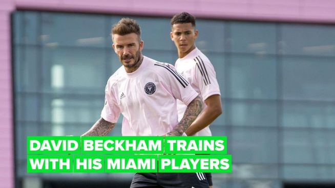 Watch David Beckham score a sneaky goal at Inter Miami practice