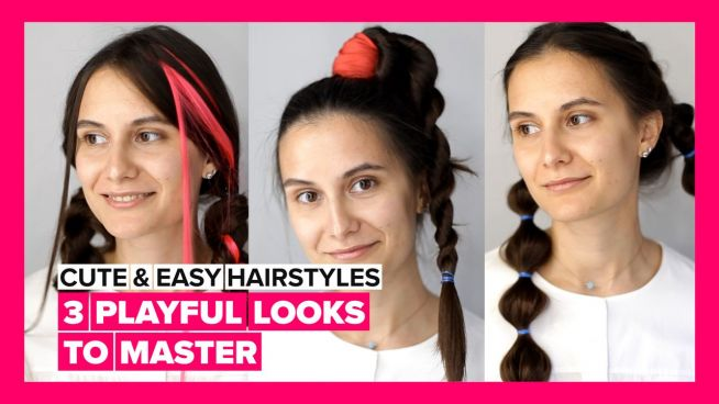 Cute & Easy Hairstyles: Three playful looks to master