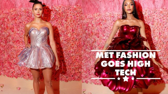 Nina Dobrev & Jordan Dunn wore 3D printed gowns to the Met