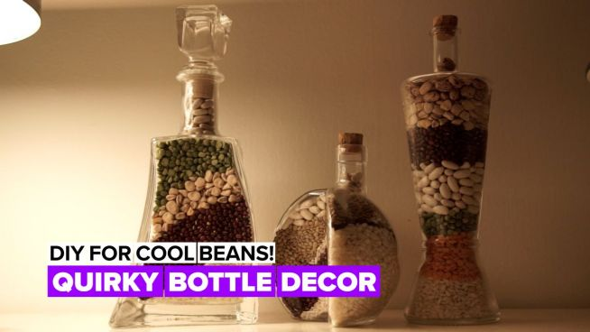 Cool Beans: Beans bottle décor
