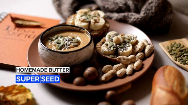Elevate your homemade peanut butter with super seeds