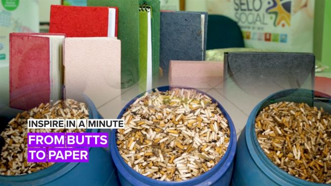 Inspire in a Minute: When life gives you butts, make paper