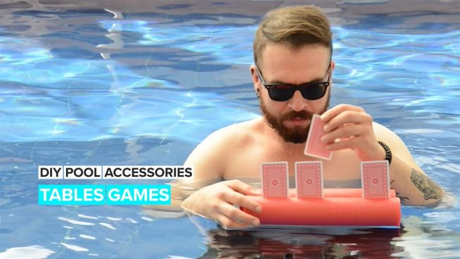 DIY Pool Accessories: Table Games in the Water