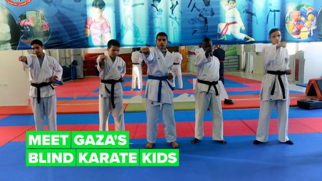 Finding hope in Gaza with karate