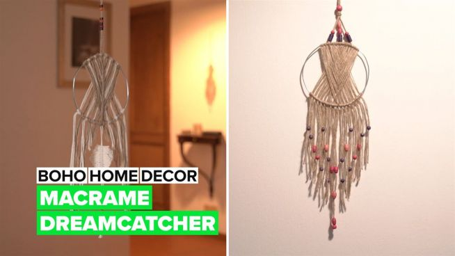Boho Home Decor: Make your own macrame dreamcatcher