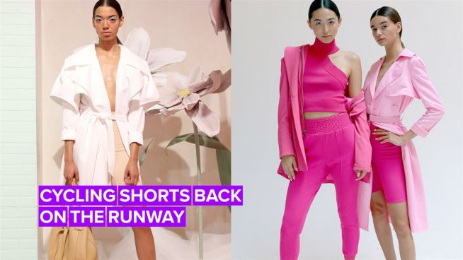 NYFW: Biker shorts are here to stay
