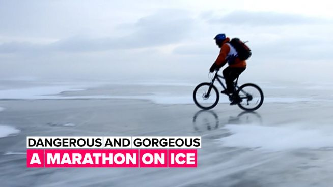 Epic winter sport: Ice marathon