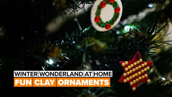 Winter decor: Trendy clay ornaments