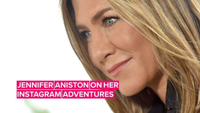 Jennifer Aniston tells Jimmy Kimmel exactly why she joined Instagram