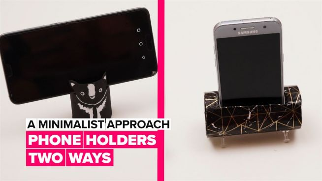 A Minimalist Approach: DIY phone holders