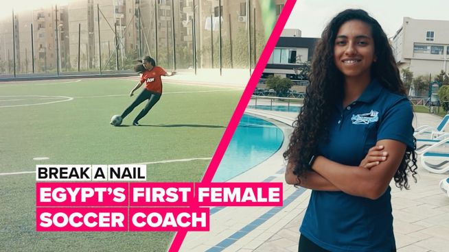 Break a Nail: How this female coach tackled playing football in Egypt