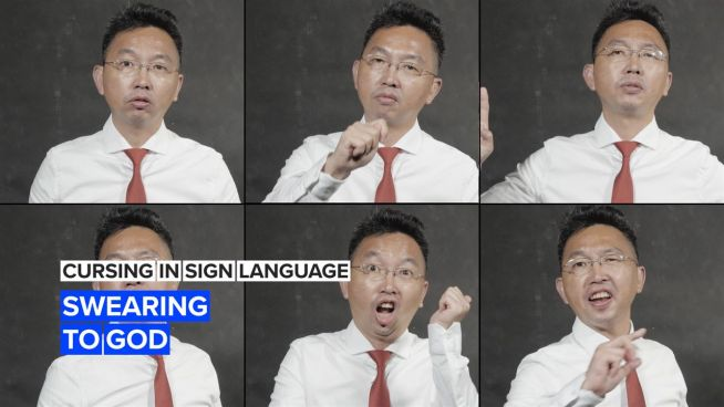 Cursing in sign language: Swearing to God