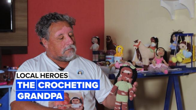 Local Heroes: This crocheting grandpa makes the most incredible dolls