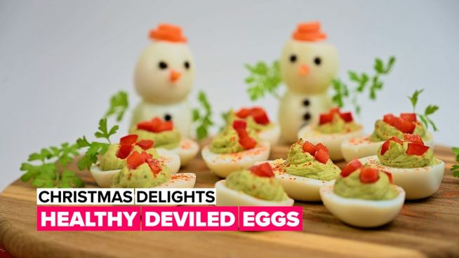 Christmas delights: Healthy deviled eggs