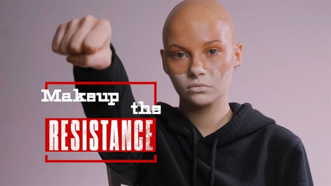 Makeup the Resistance: A visual representation of #ClimateAction