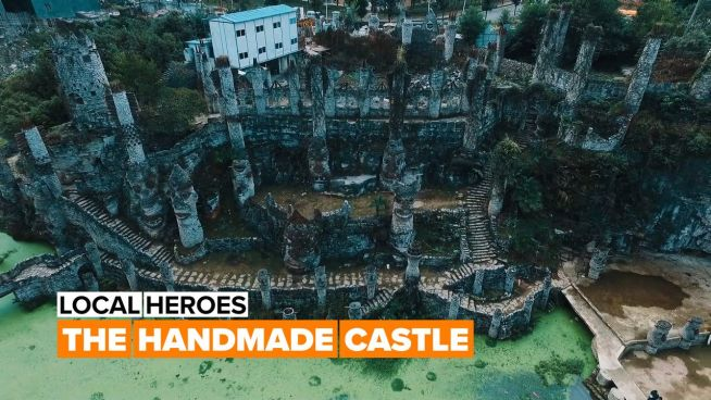 This professor built a castle all by himself