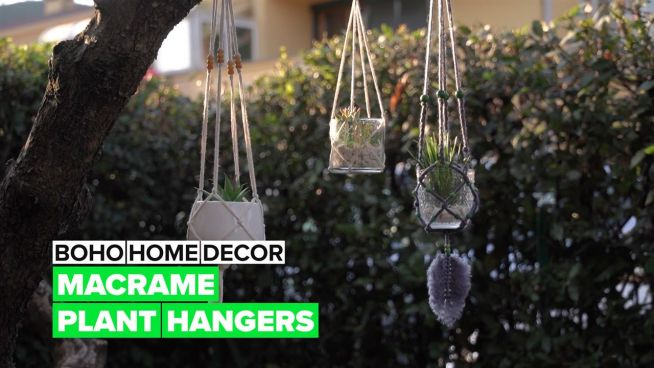 Boho Home Decor: It's time to make some macrame plant hangers