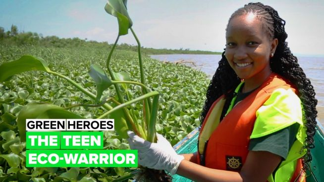Green Heroes: Meet the 15-year-old Kenyan girl who's turning weeds to wonder