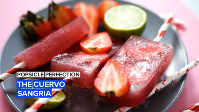 Beat the heat with cuervo sangria popsicles!